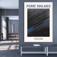 Pierre Soulages – affiche d'exposition Vintage 1949, téléchargement numérique, affiche japonaise, Art mural, géométrique