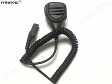 Microphone speaker for motorola xir p6600 p6608 p6628 xpr3500 dep550 dep570 dp2000 dp2400 mtp3100 with 3.5mm jack walkie talkie(China)
