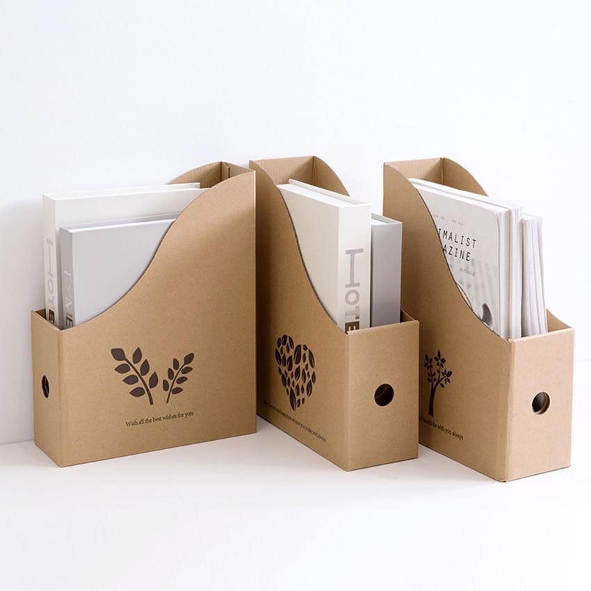 1 PCS File Paper Holder Desktop File Organizer For Books, Documents Storage Box Document Cabinets Desk Folder Office Suppiles