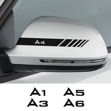 2PCS Espelho Retrovisor Do Carro Adesivos Para Audi A3 8P S3 8V A4 B8 B6 A6 C6 C5 C7 A1 A2 A5 A7 A8 Acessórios Auto Película de Vinil Decalques
