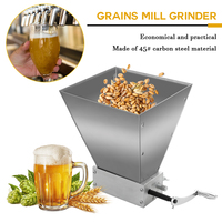 Carbon Steel Barley Malt Mill Grain Grinder Hand Craft Malt Mill Wheat Grain Mill Grinder Home Brew Beer Machine Hand Shak