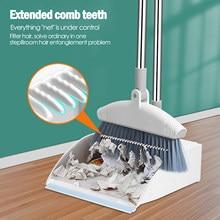 Conjunto de vassoura doméstica vassoura e dustpan combinação cabelo antiaderente varrição artefatos limpador esfregões limpeza doméstica para casa