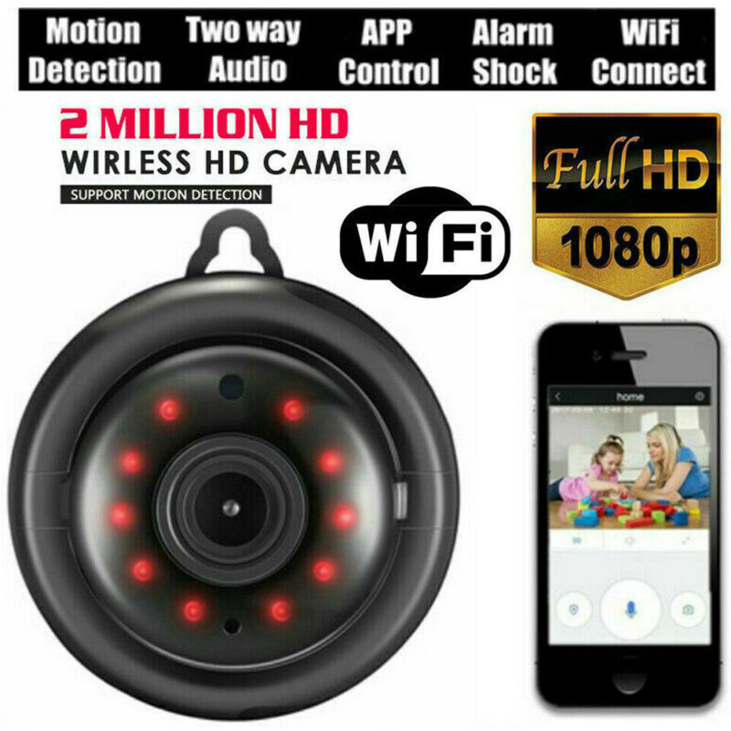 Smart Wifi Wireless IP Camera 1080P Mini Home Security Video Surveillance Baby Monitor Night Vision 2-Way Audio Support 64g Card