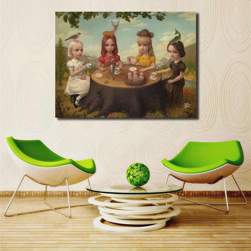 Mark Ryden Allegory из четырех элементов напечатанная Картина на холсте гостиная домашний декор Современная Настенная живопись плакат без рамки