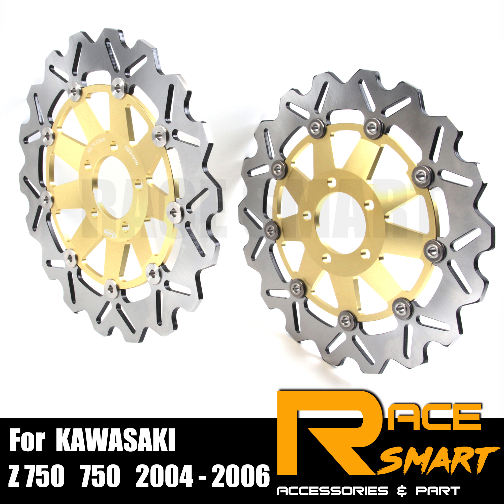 For <font><b>KAWASAKI</b></font> <font><b>Z750</b></font> 2004 - 2006 Motorcycle CNC Front <font><b>Brake</b></font> Disks <font><b>Discs</b></font> Stainless Steel <font><b>Brake</b></font> Rotor Z-750 <font><b>Z750</b></font> S750 2005 2006 S-750 image