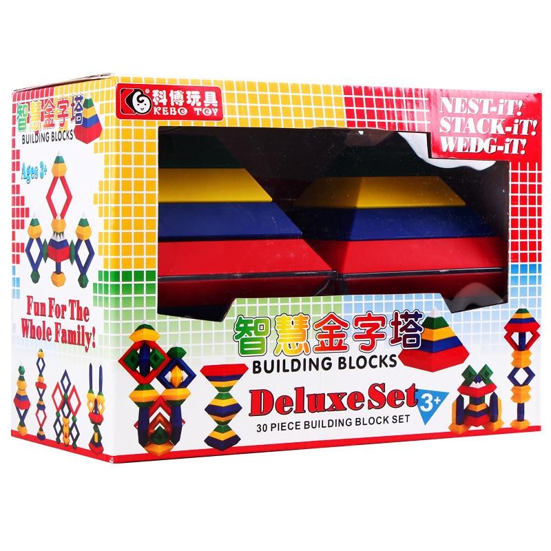 Cobo Plastic Toys Intelligence Magic Tower Alternate Pyramid Diamond Diy Building Block Children's Intelligence Toys