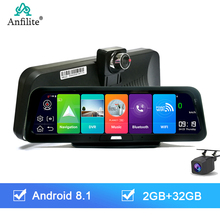 Anfilite 10 inch 4G ADAS Car Dash Cam Dual Lens Android 8 1 2+32g car DVR Camera GPS navigator 1080p Recorder Parking Monitor cheap 1024*600 Bluetooth Charger FM Transmitter Mobile Phone MP3 MP4 Players Radio Tuner Touch Screen Vehicle GPS Units Equipment