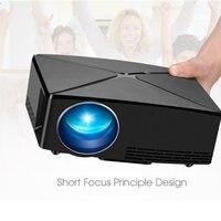 Mini projetor de filme 720 p 60 w 2200 lumens projetores de cinema em casa puo88|Sistema de conferência| |  -