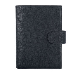 Yiwi Genuine Leather Binder Rings Notebook Personal Size Agenda Organizer Cowhide Diary Journal Sketchbook Money Pocket Planner