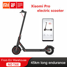 Xiaomi m365 pro scooter elétrico mijia e-scooter 45km bateria skate hoverboard longboard 2 roda patinete adulto inteligente app