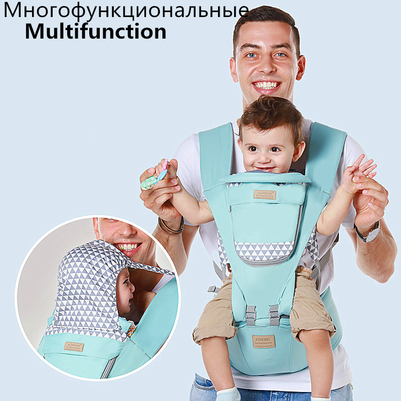 Adjustable 0-36M Ergonomic Baby Carriers Backpack Portable Baby Sling Wrap Cotton Manduca Infant Newborn Kangaroo Bag Hipseat
