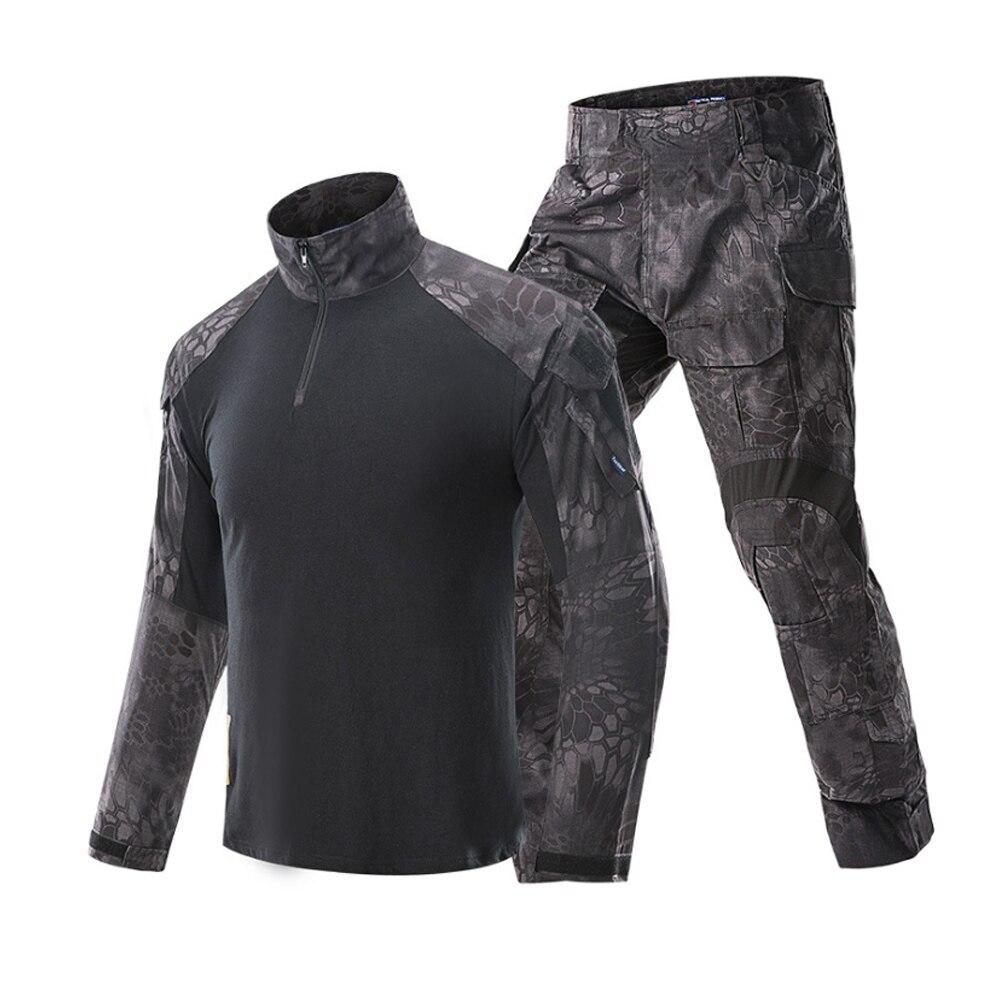 Klassieke Tactische Militaire Uniform Pak Mannen Leger Camouflage Paintball Pak Set Airsoft Paintball Multicam Cargo Shirt Met Broek - 3