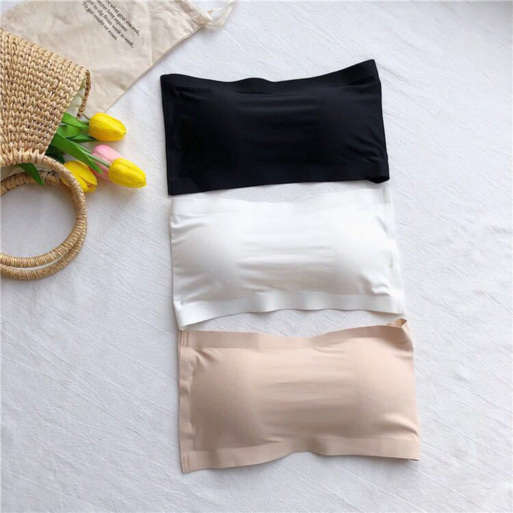 Seamless Tube Tops Women Strapless Padded Bra Bandeau Tube Top Women Intimates Soft Push Up Sexy Lingerie New Arrival
