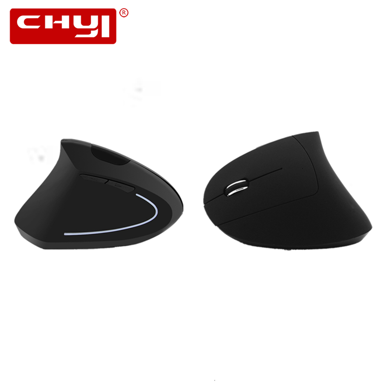 CHYI Left Hand Wireless Vertical Mouse Ergonomic 2.4Ghz 1600 DPI Optical USB Charging Left-handed Gaming For PC