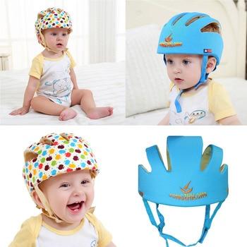Casco de protección para niños casco de seguridad transpirable ajustable para bebés niños aprendiendo a caminar casco de cabeza antigolpes