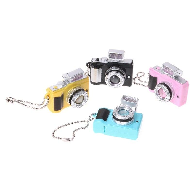 Creative Camera Led Keychains With Sound LED Flashlight Key Chain Funny Toy 634F