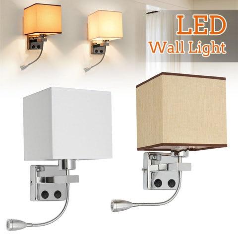 moderno levou parede de luz ajustavel levou parede de luz proteger os olhos lampada de
