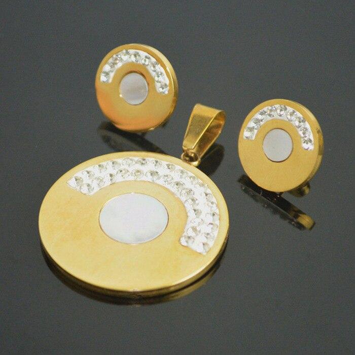 7 article-ensemble de bijoux en peluche coquille de mer miel cadeau en acier inoxydable boucles d'oreilles pendentif collier femmes