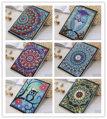 Temporada de apertura Cuadernos de pintura de diamantes en forma especial recién llegados diario libro bordado de diamantes venta A5 mosaico pintura regalo