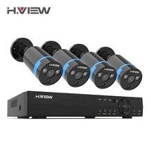 H.VIEW камера безопасности 8ch CCTV система 4 1080P CCTV камера видеонаблюдения комплект 8ch DVR для наружного наблюдения