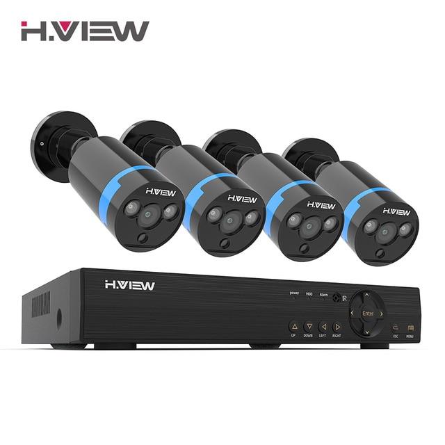 H. Görüş güvenlik kamera sistemi 8ch CCTV sistemi 4 1080P güvenlik kamerası Video gözetim kiti 8ch DVR Video gözetleme açık