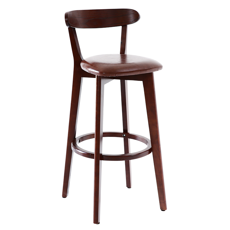 Solid Wood Bar Chair Back Chair Northern Europe Bar Table Chair High Stool Bar Stool Modern Simple High Stool Bar Chair