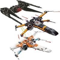 Star wars 75102 75149X75211 ala estrella Plan Poe X Tie Fighter Lepining juguete de bloques de construcción