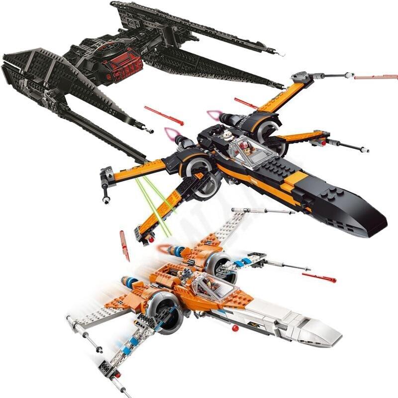 Starwars 75102 75149 75211 X Wing Star Poe's X Tie Fighter Building Blocks With Legoinglys Star Wars Children Toy