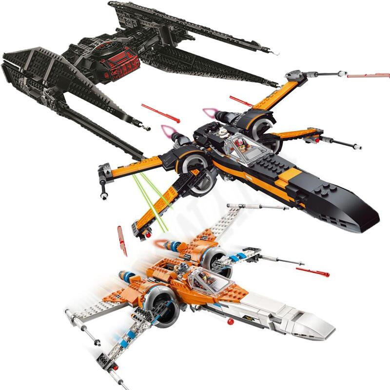 Starwars 75102 75149 75211 X Wing Star Poe's X Tie Fighter Building Blocks With Star Wars Children Toy