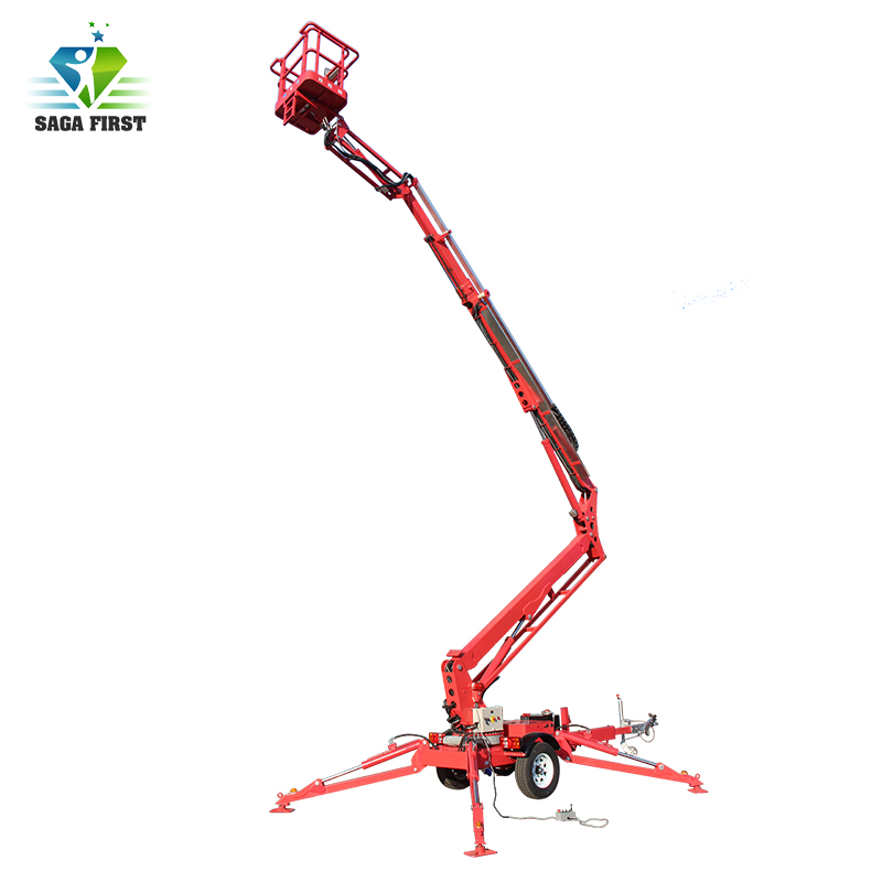 Hydraulic Self Move Knuckle Boom Cherry Picker For Cleaning Window