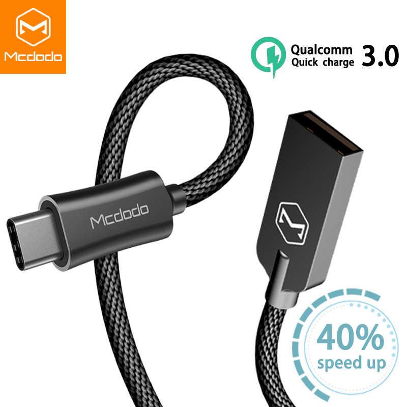 Mcdodo USB Tipo C Cavo 2A per Oneplus Huawei Mate 20 Pro USB Cavo di CONTROLLO di QUALITÀ 3.0 di Ricarica Veloce USB-C Dati cavo per Samsung S9 S8 Più