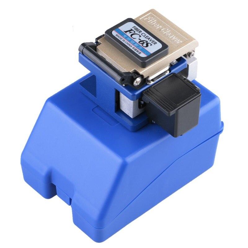FC-6S Blue Optical Fiber Cleaver Mental Fiber Cleaver With Blue Case Apply 9mm-16mm Cleave Length To FTTH