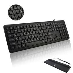 CHYI rosyjska/angielska przewodowa klawiatura USB Silent 108 klawiatura komputerowa na PC Laptop ergonomiczny wodoodporny komputer klawiatura