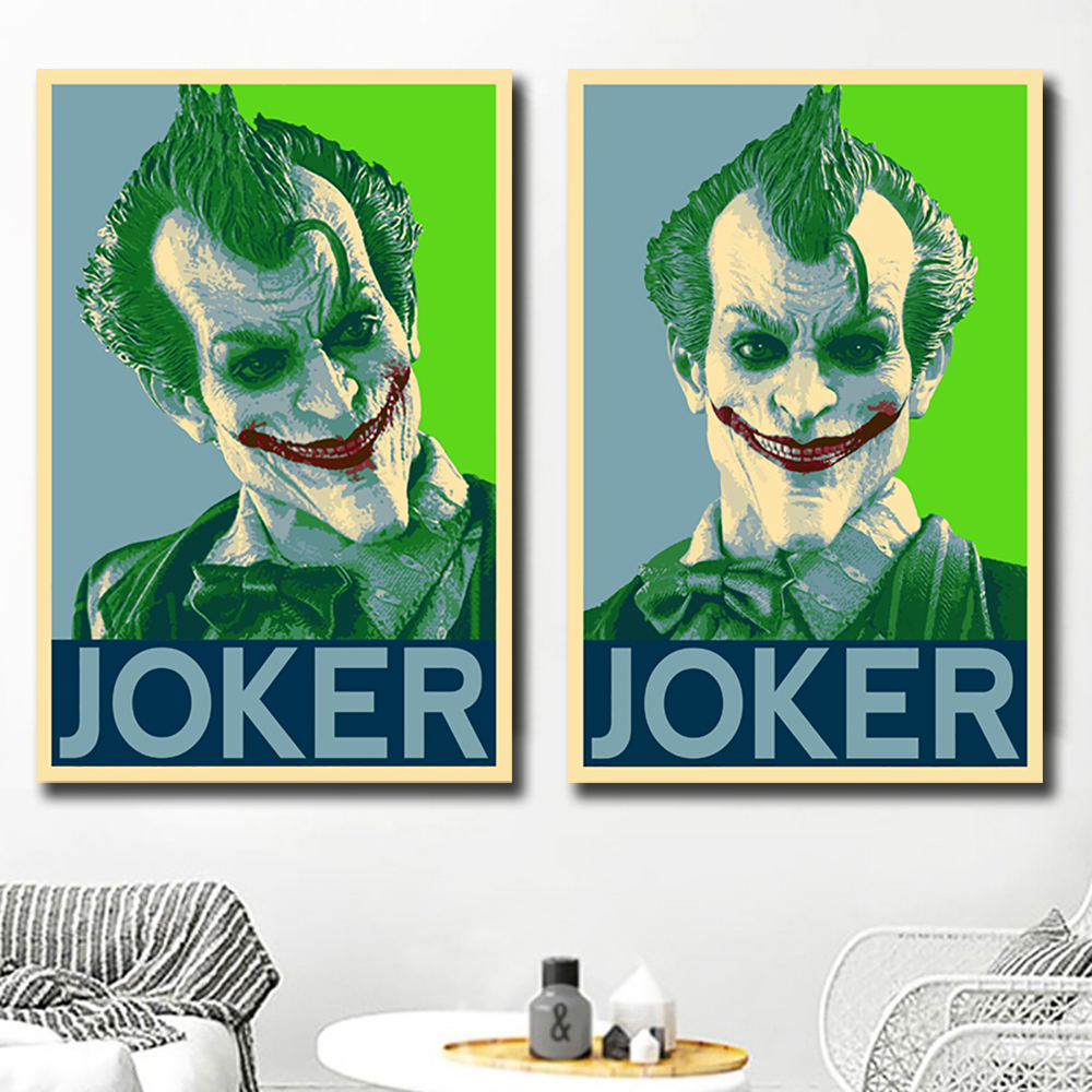 Joker Batman The Animated DC Superhero Canvas Poster Art Prints 8x12 24x36 inch