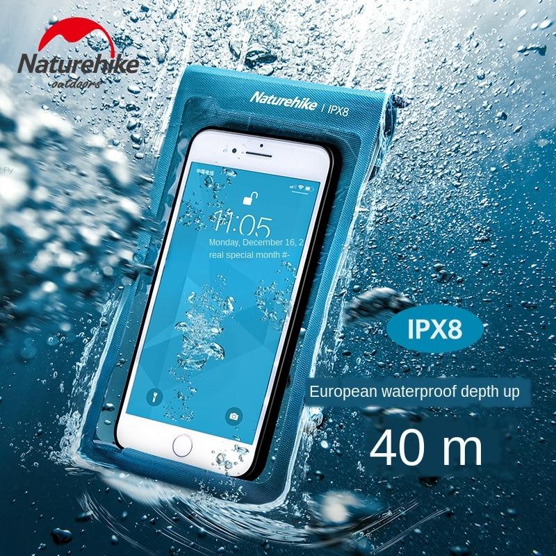 Naturehike Waterproof Cellphone Bag TPU Waterproof Swimming Waterproof Phone Set Touch Screen Sealed Diving Mobile Phone Shell