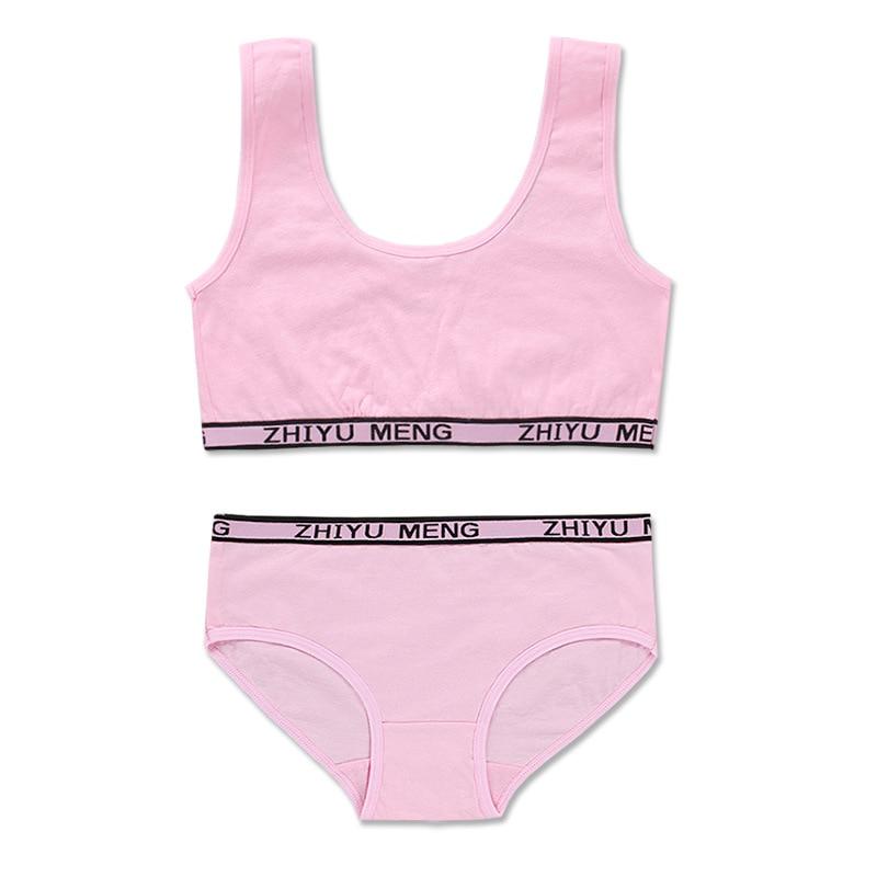 Teenagers Lingerie Cotton Underwear Sets Kids Young Girls Training Bras Puberty Students Vest  Kids Panites 6