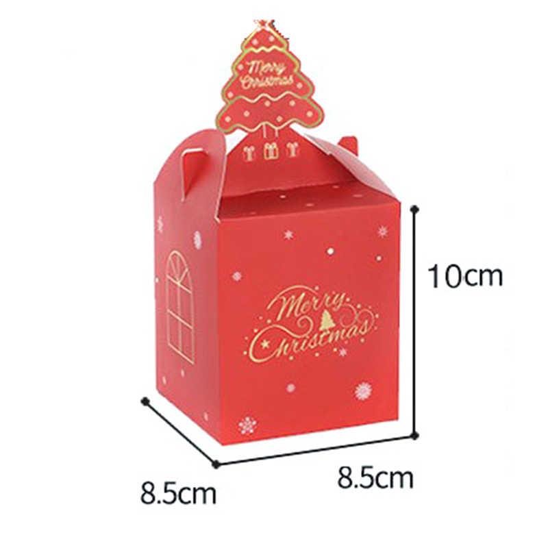 2020 חג המולד תפוח ערב תיבת עוגת סוכריות פאוץ נייר תיבת מסיבת מתנת אספקת 8 סגנונות