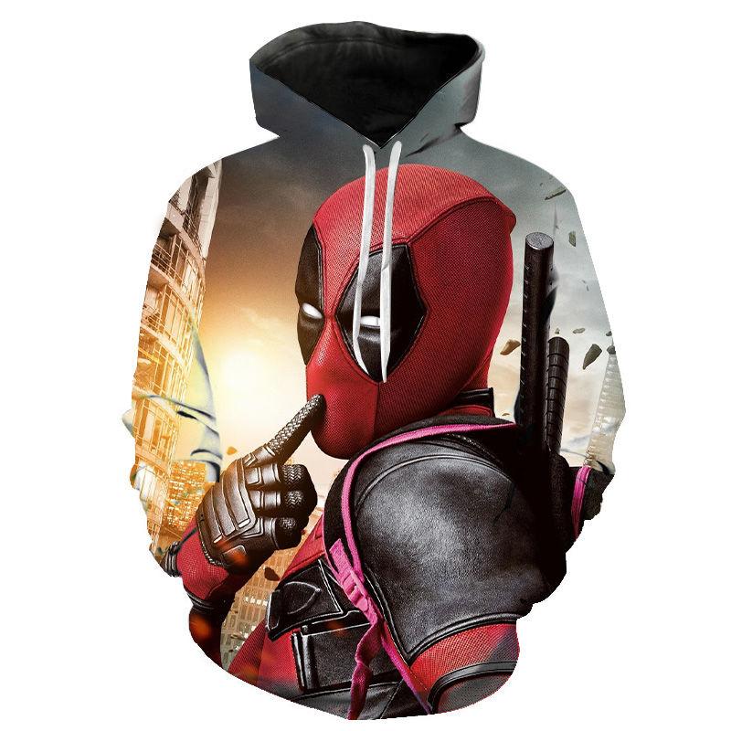 2020 New Marvel Super Hero Deadpool 3D Hoodies Men Women Children Superhero Sweatshirts Casual Hooded Cool Streatwear Pullover