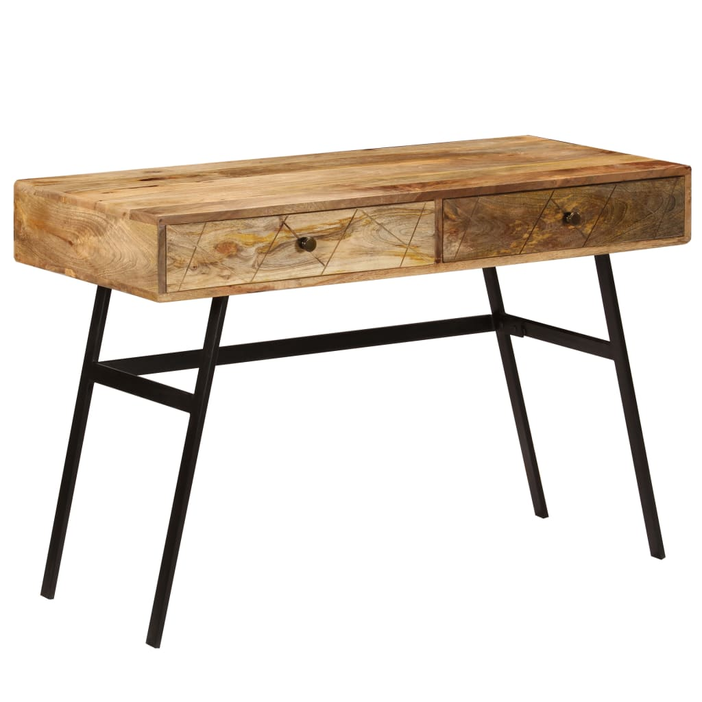 VidaXL Writing Desk With Drawers Solid Mango Wood 110x50x76 Cm
