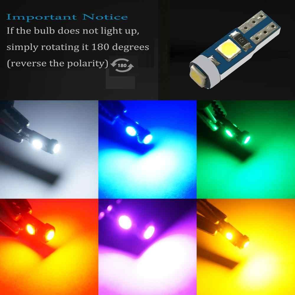 5 قطعة Canbus T5 LED مصباح 73 74 3030 SMD لمبة لوحة أداة أضواء لسوبارو BRZ تراث Tribeca Outback Forester Impreza