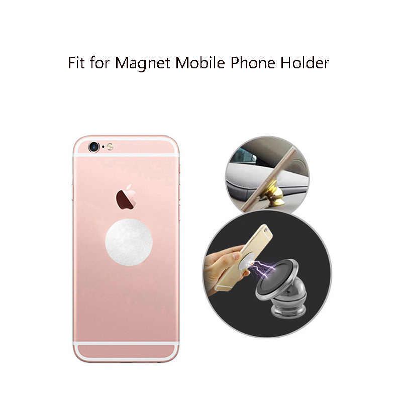 1/3/5 adet/grup Metal plaka çıkartmalar mıknatıs araç telefonu tutucu demir sac Disk değiştirme manyetik araba telefon tutucu dağı