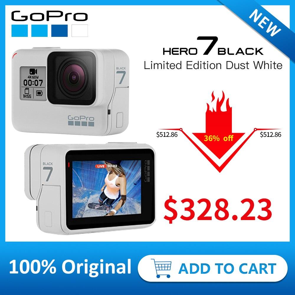 GoPro HERO7 Preto (Edição Limitada Anoitecer Branco) câmera à prova d' água Ação 4 K 12MP 60fps 1080 P 240fps vídeo Ir Pro Esporte cam Foto