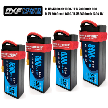 DXF lipo Battery 3S 11.4V 8400mah 140C /8000mah 140C/ 6500mah 100C /7000mah 60C/7.4V 2700mah 20C For Drone Helicopter 1/8 RC CAR dxf 3s lipo battery 11 1 v 2200mah 70c max 140c rc bateria for rc helicopter car drone akku uav model airplane quadcopter