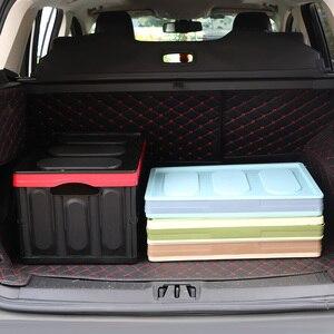 Image 4 - صندوق تخزين السيارة ، صندوق تخزين البضائع ، قابل للطي ، ملحقات داخلية متعددة الوظائف ، تصميم السيارة