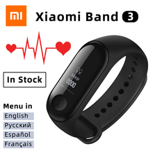 Xiaomi Mi 3 สมาร์ทสายรัดข้อมือฟิตเนสTracker Heart Rate Monitor OLEDบลูทูธกีฬาสร้อยข้อมือกันน้ำMiband 3