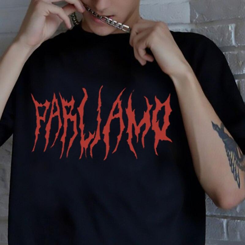 Летняя женская футболка в стиле хип-хоп, Прямая поставка, винтажная Готическая уличная одежда в стиле ольччан, Корейская одежда, футболка с ...