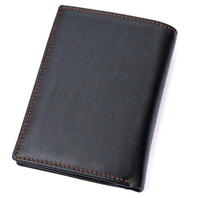 Portefeuille de poche homme Napa cuir de vachette homme ID bancaire lecteur de crédit Liscence porte-carte portefeuilles fermeture éclair sac de monnaie hommes Bill sac à main