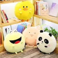 1pc 40cm Kawaii Panda Frog Plush Pillow Stuffed Soft Cartoon Pig Chicken Plush Pillow Cushion Children Gifts Girlfriend Toys