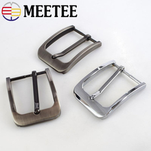 Meetee 5pcs 35mm Pin Belt Buckle Women Mens Metal Cowboy DIY Leather Craft Jeans Accessories Supply for 33-34mm