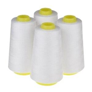 ABLA 4 конуса (3000 ярдов каждая) швейные нитки полиэфирные нити катушка ниток (402 #) для швейной машины и ручной работы